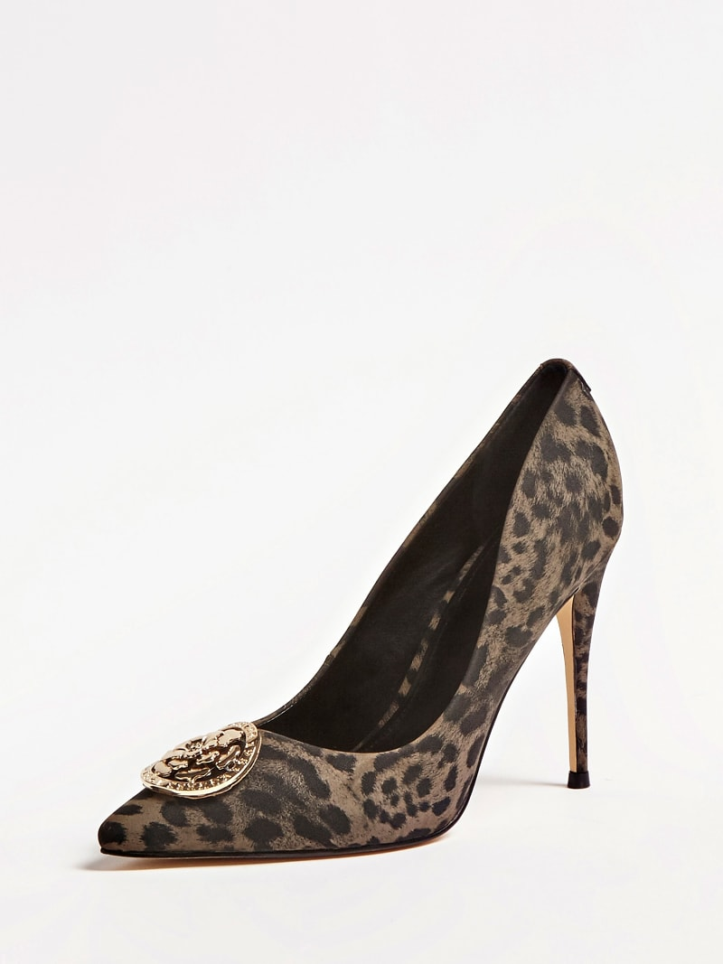 ANIMAL-PRINT COURT SHOES image number 0