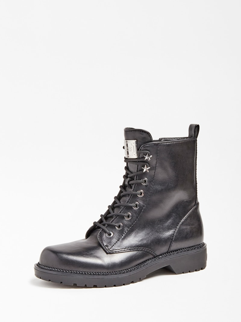 TALISI GENUINE LEATHER COMBAT BOOT image number 0