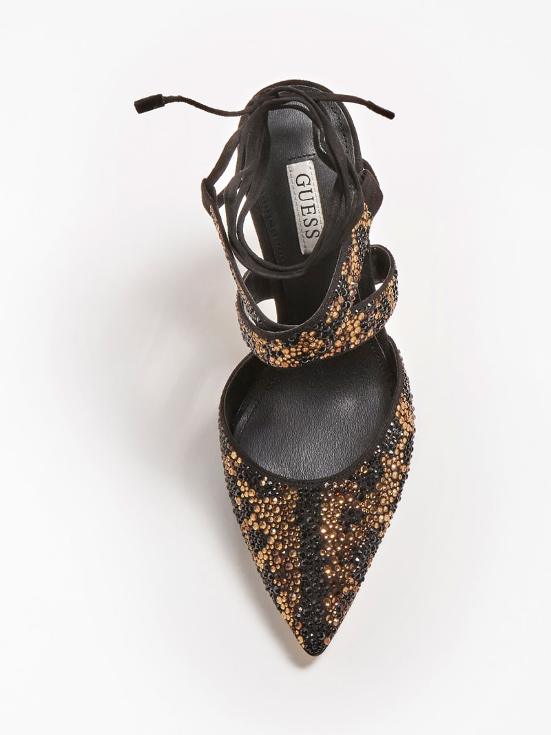 SANDALETTE GLOWY ANIMAL-OPTIK STRASS image number 3