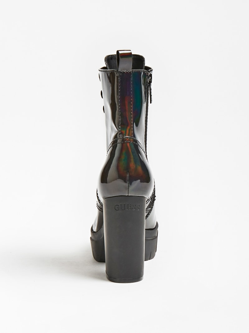 NEESHA GLOSSY-LOOK COMBAT BOOT image number 2