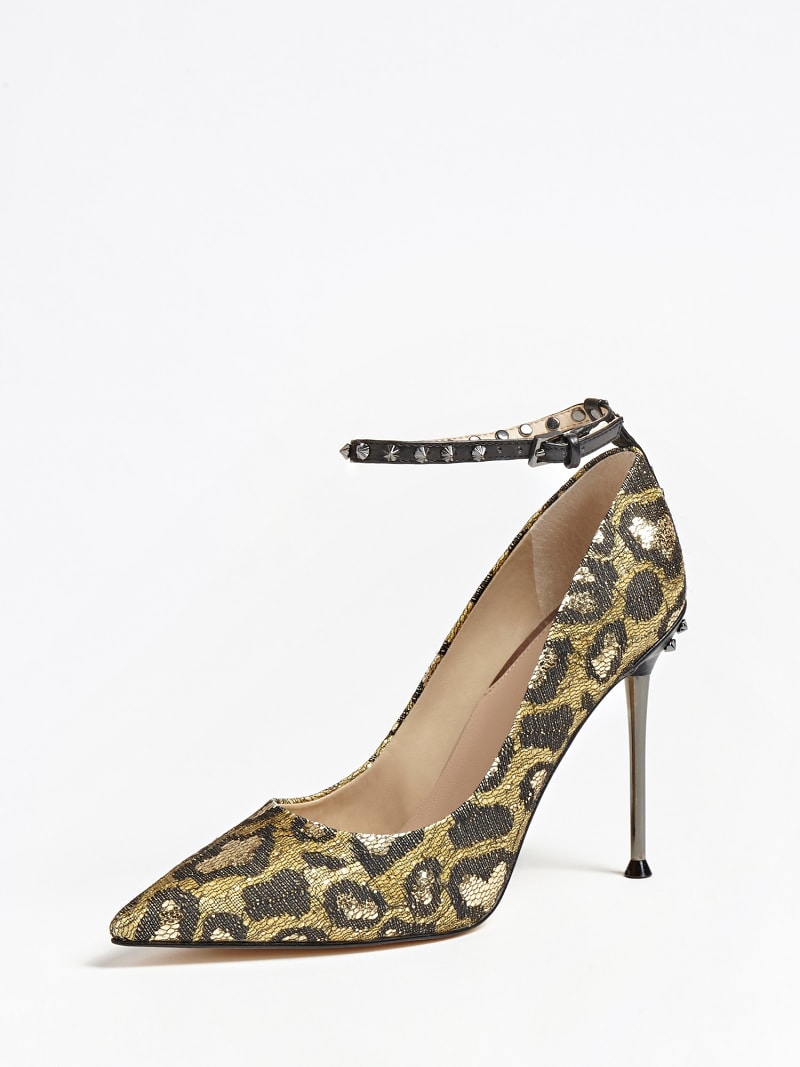 OLEANE ANIMALIER SEQUIN COURT SHOE image number 0