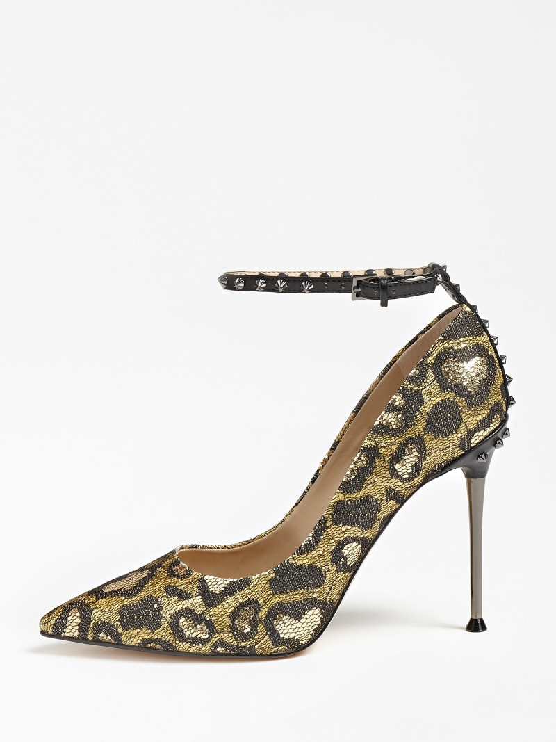 OLEANE ANIMALIER SEQUIN COURT SHOE image number 1
