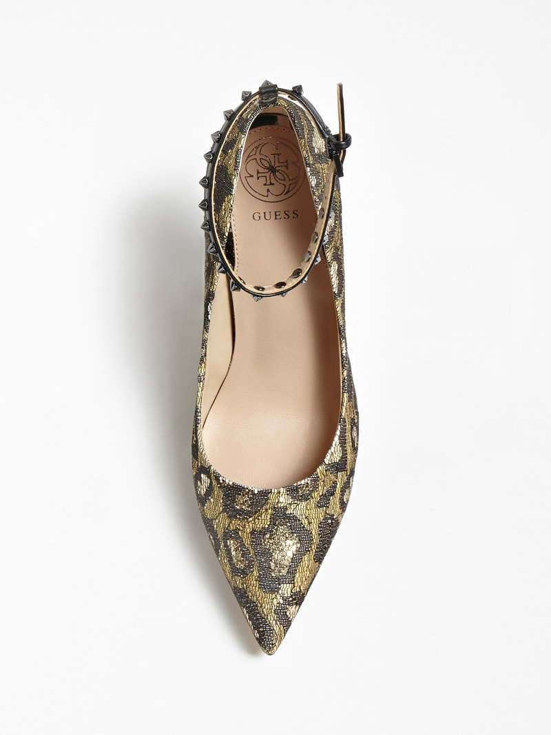 OLEANE ANIMALIER SEQUIN COURT SHOE image number 3