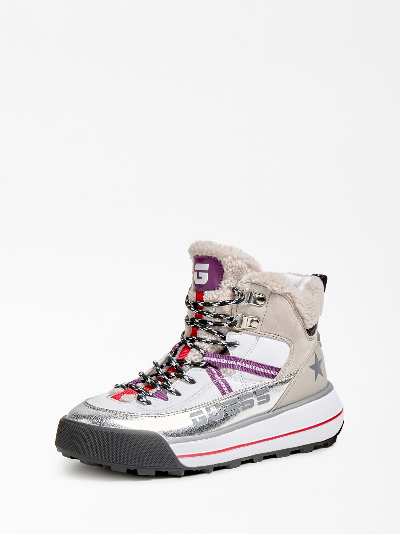 RAVE LOGO SCRIPT HIGH-TOP BOOT image number 0