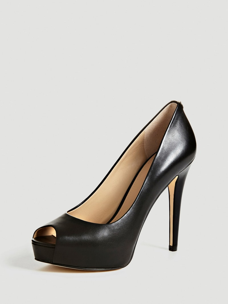 ESCARPIN A BOUT OUVERT HADIE CUIR image number 0
