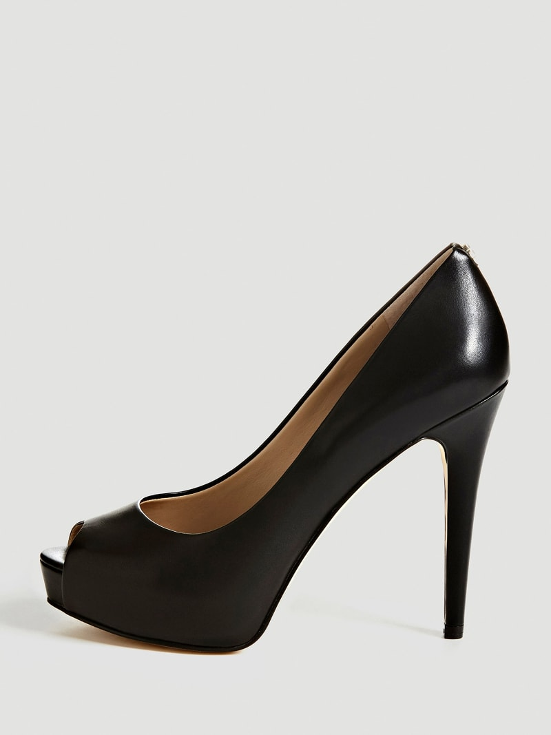 ESCARPIN A BOUT OUVERT HADIE CUIR image number 1