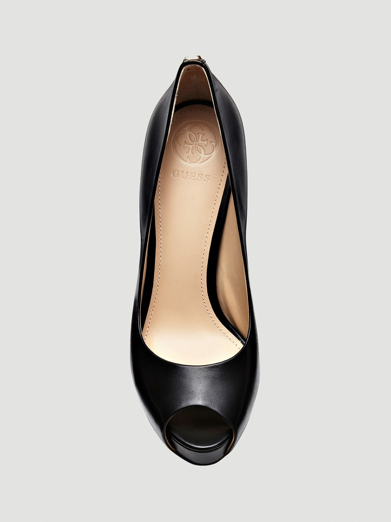 ESCARPIN A BOUT OUVERT HADIE CUIR image number 3