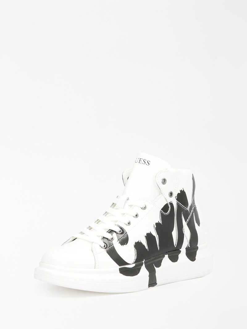 SALERNO MID LOGO HIGH-TOP SNEAKER image number 0