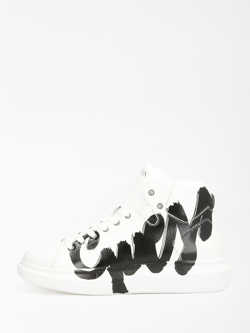 SALERNO MID LOGO HIGH-TOP SNEAKER image number 1