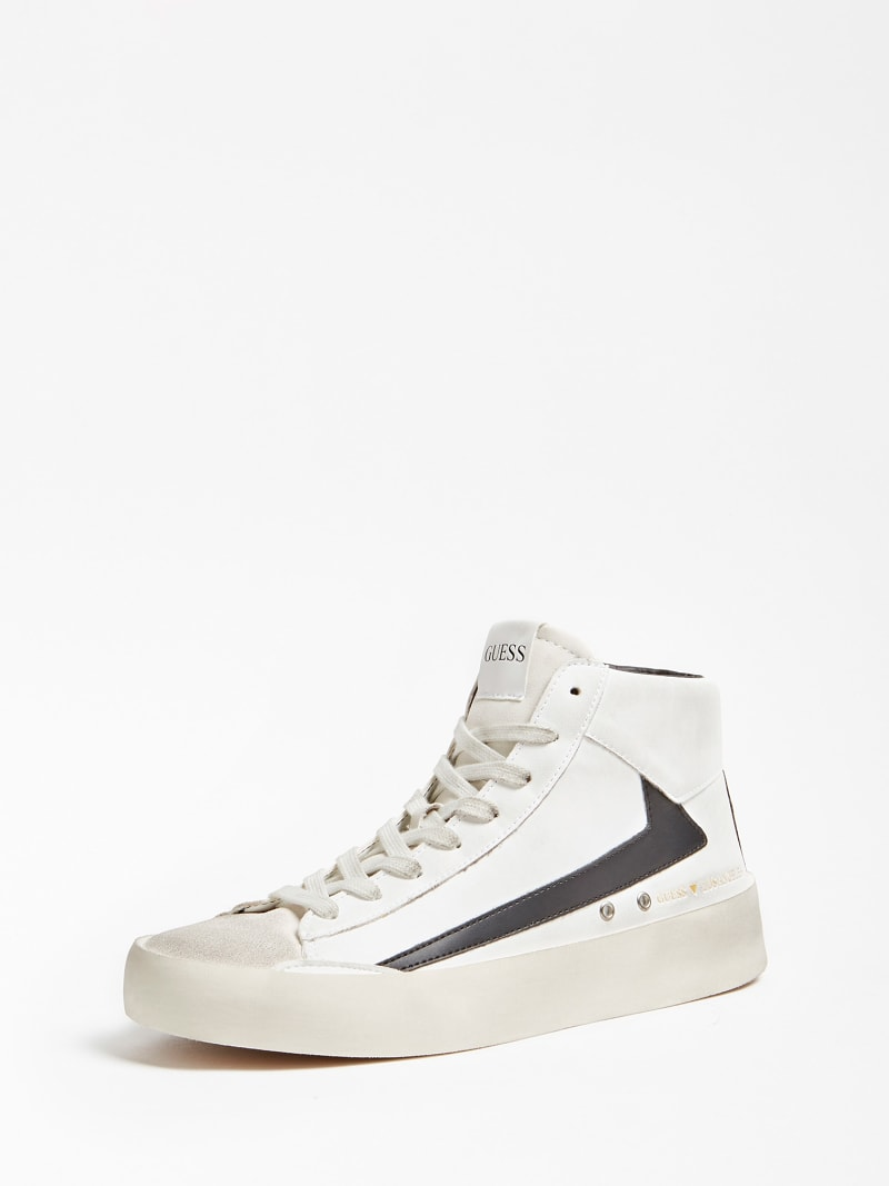 FIRENZE CONTRASTING INSERT HIGH-TOP SNEAKER image number 0