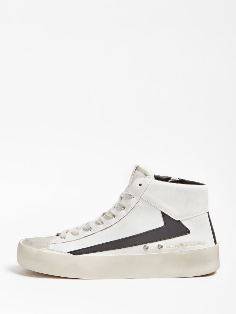 FIRENZE CONTRASTING INSERT HIGH-TOP SNEAKER image number 1