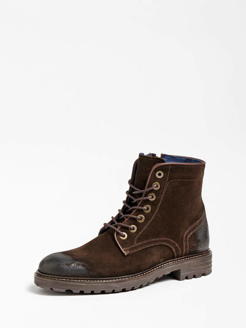 GERALD USED-LOOK SUEDE LOW BOOT image number 0