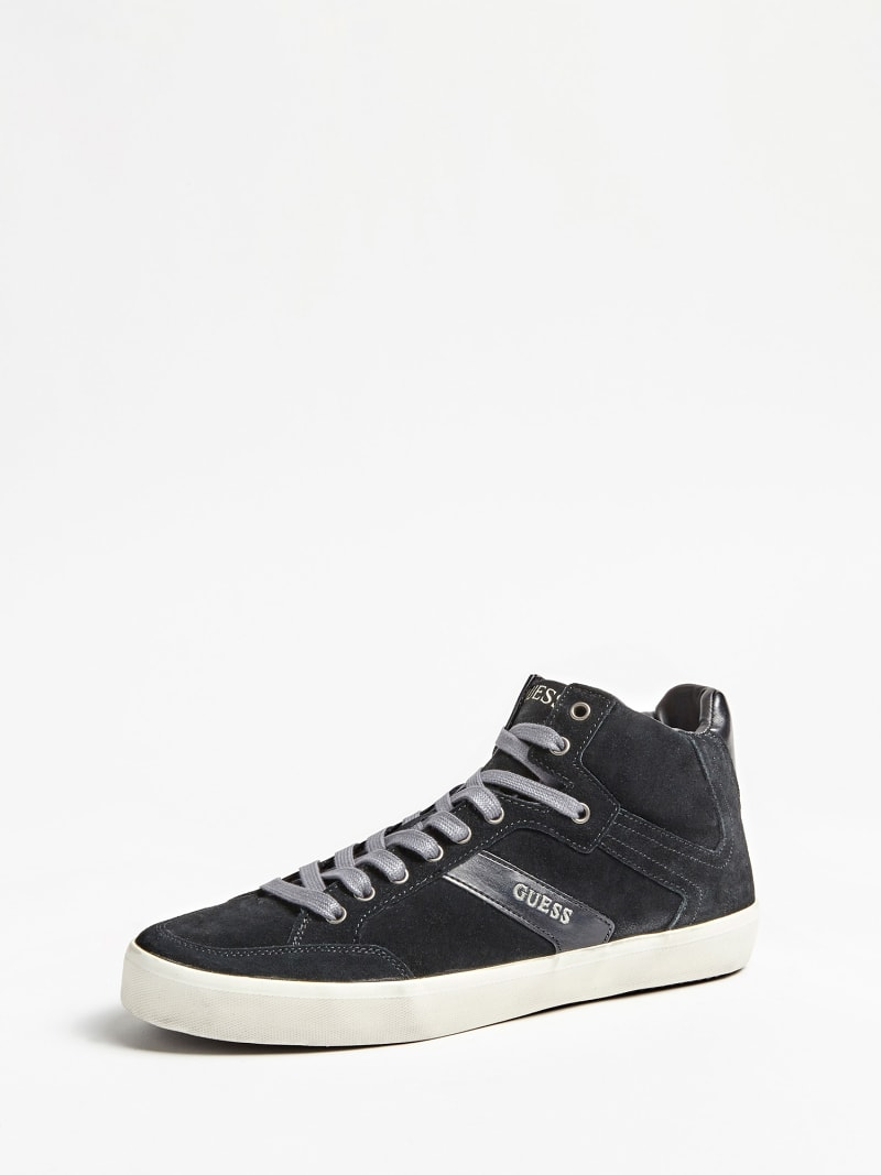 HIGH-TOP-SNEAKER STATEMENT HI ECHTES VELOURSLEDER image number 0