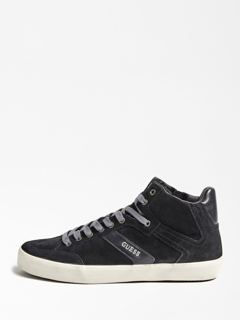 HIGH-TOP-SNEAKER STATEMENT HI ECHTES VELOURSLEDER image number 1