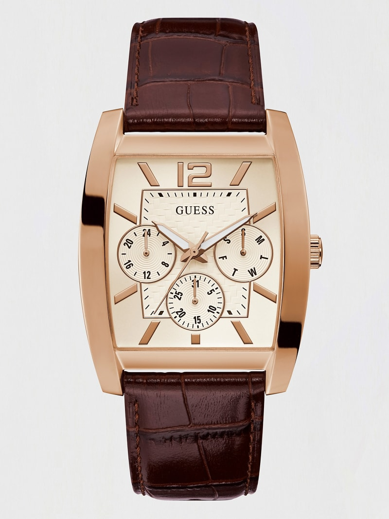 MULTIFUNCTION LEATHER WATCH image number 0