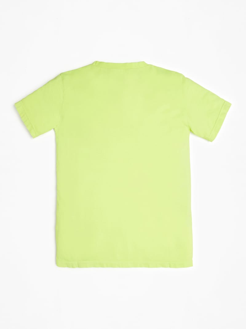 T-SHIRT TEINTURE FLUO LOGO image number 1