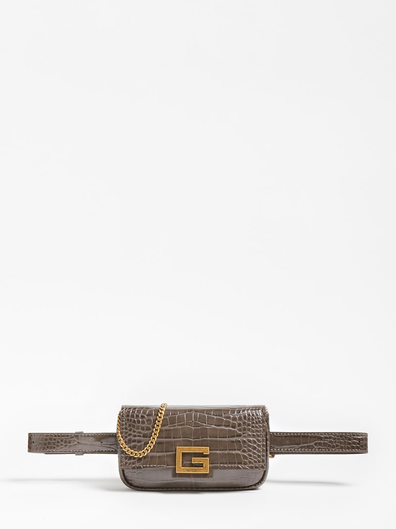 BRIGHTSIDE CROC PRINT BELT BAG image number 0