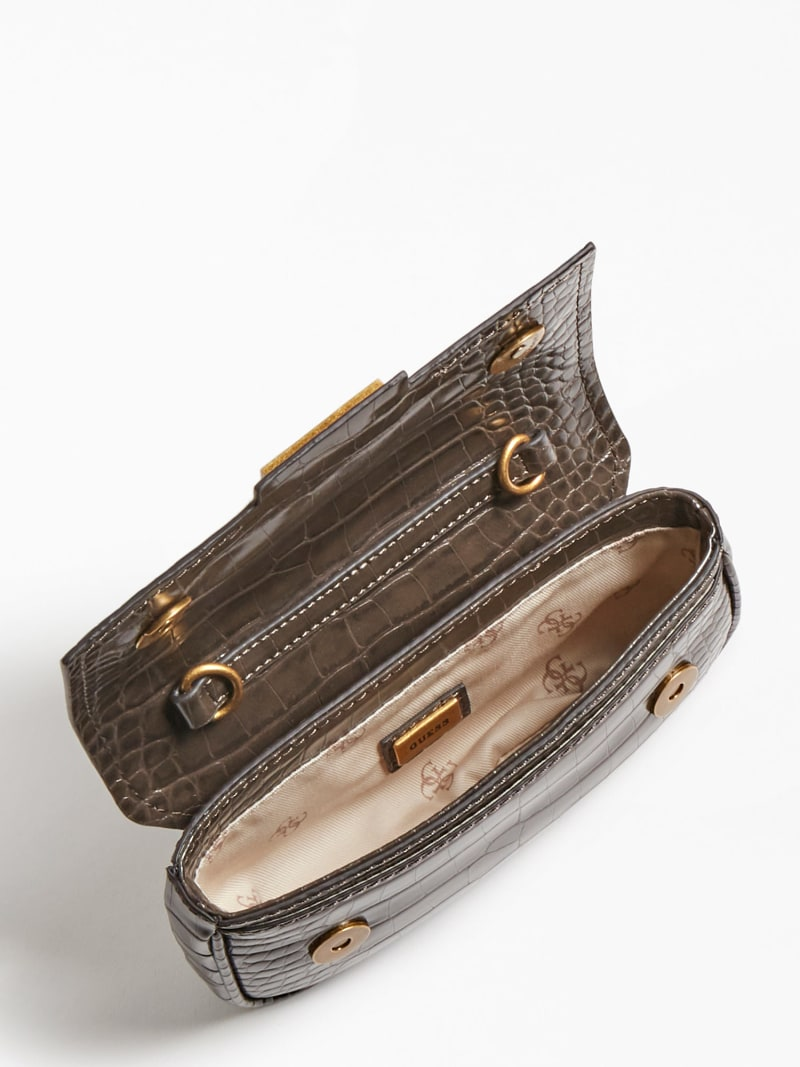 BRIGHTSIDE CROC PRINT BELT BAG image number 3