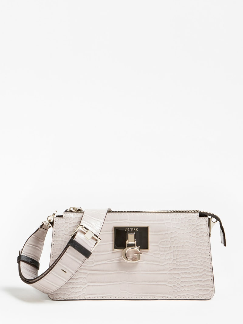 STEPHI CROC PRINT MINI CROSSBODY image number 0