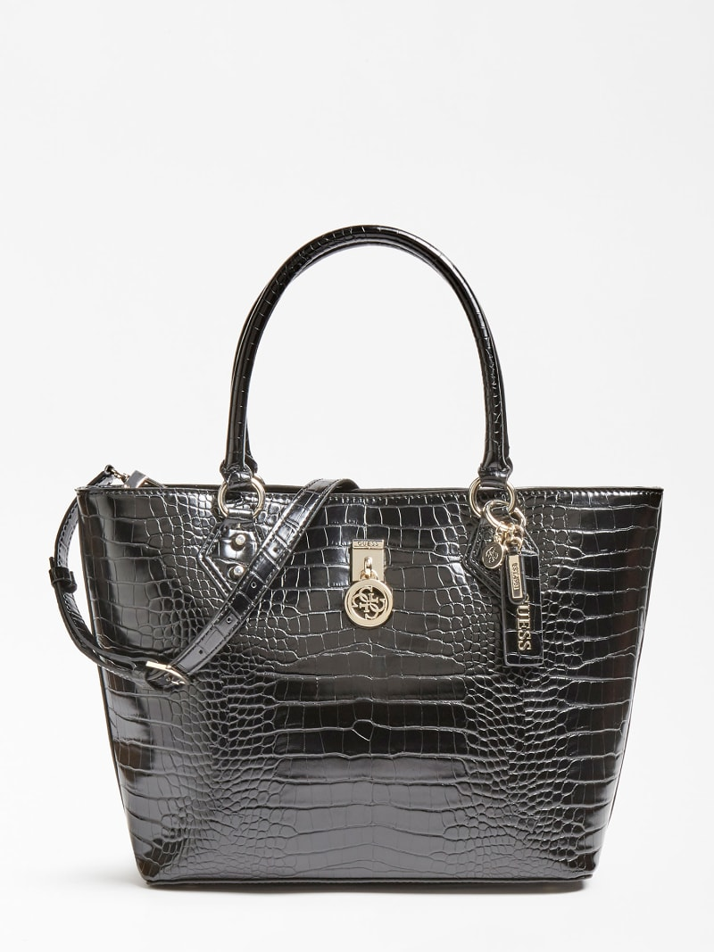 JENSEN TWO-HANDLE CROC PRINT SHOPPER image number 0