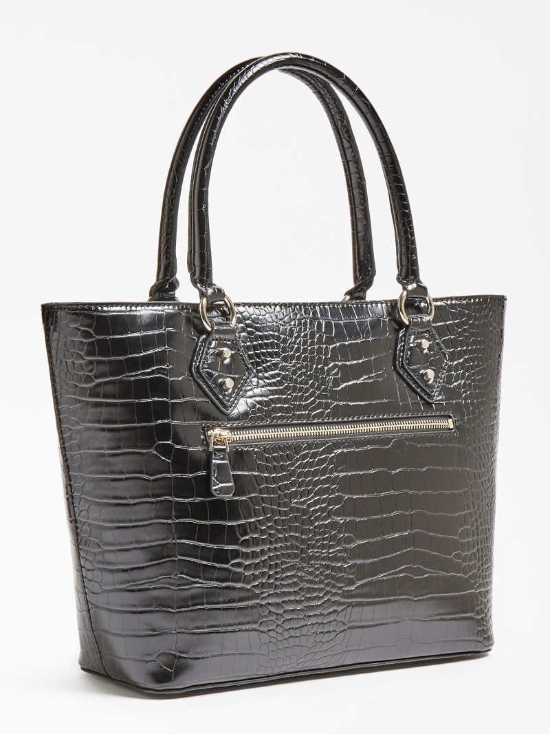 JENSEN TWO-HANDLE CROC PRINT SHOPPER image number 2