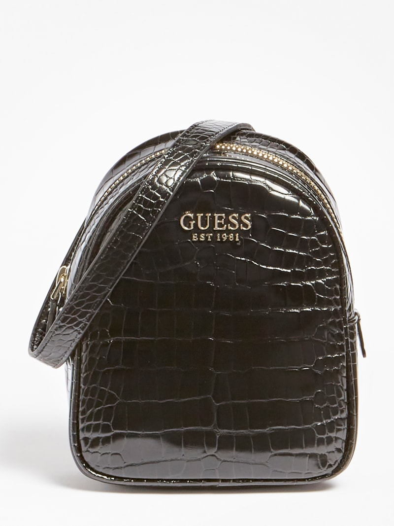 GEORGIANA CROC PRINT MINI BACKPACK image number 0