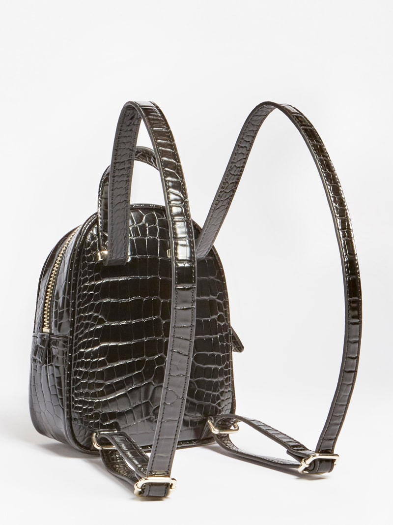 GEORGIANA CROC PRINT MINI BACKPACK image number 2