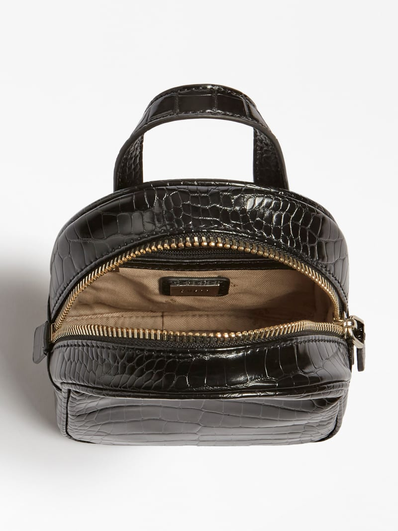 GEORGIANA CROC PRINT MINI BACKPACK image number 3