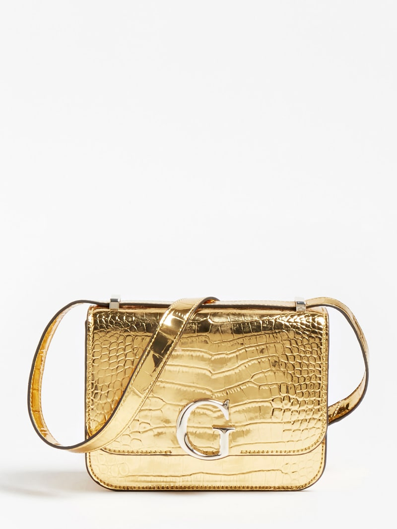 CORILY LAMINATED CROCODILE CROSSBODY image number 0