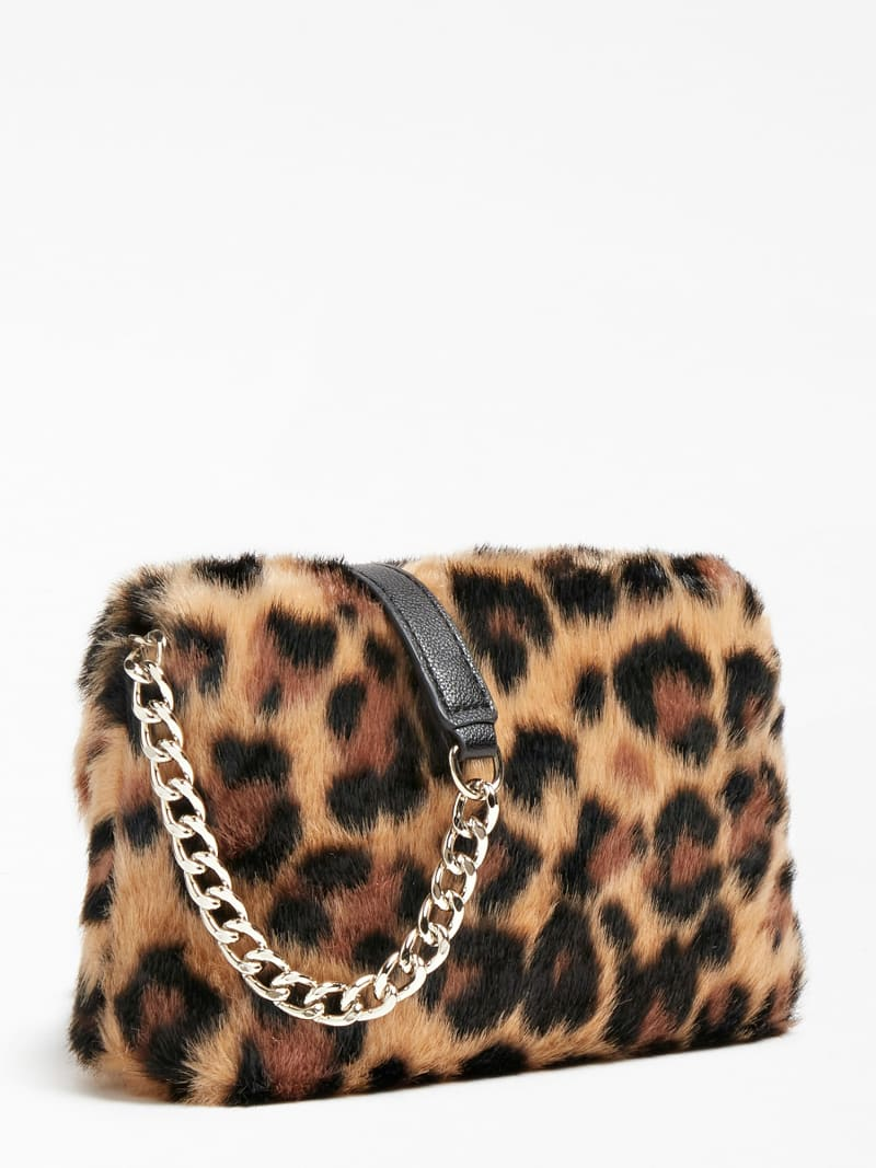 GWEN FAUX FUR CROSSBODY image number 2