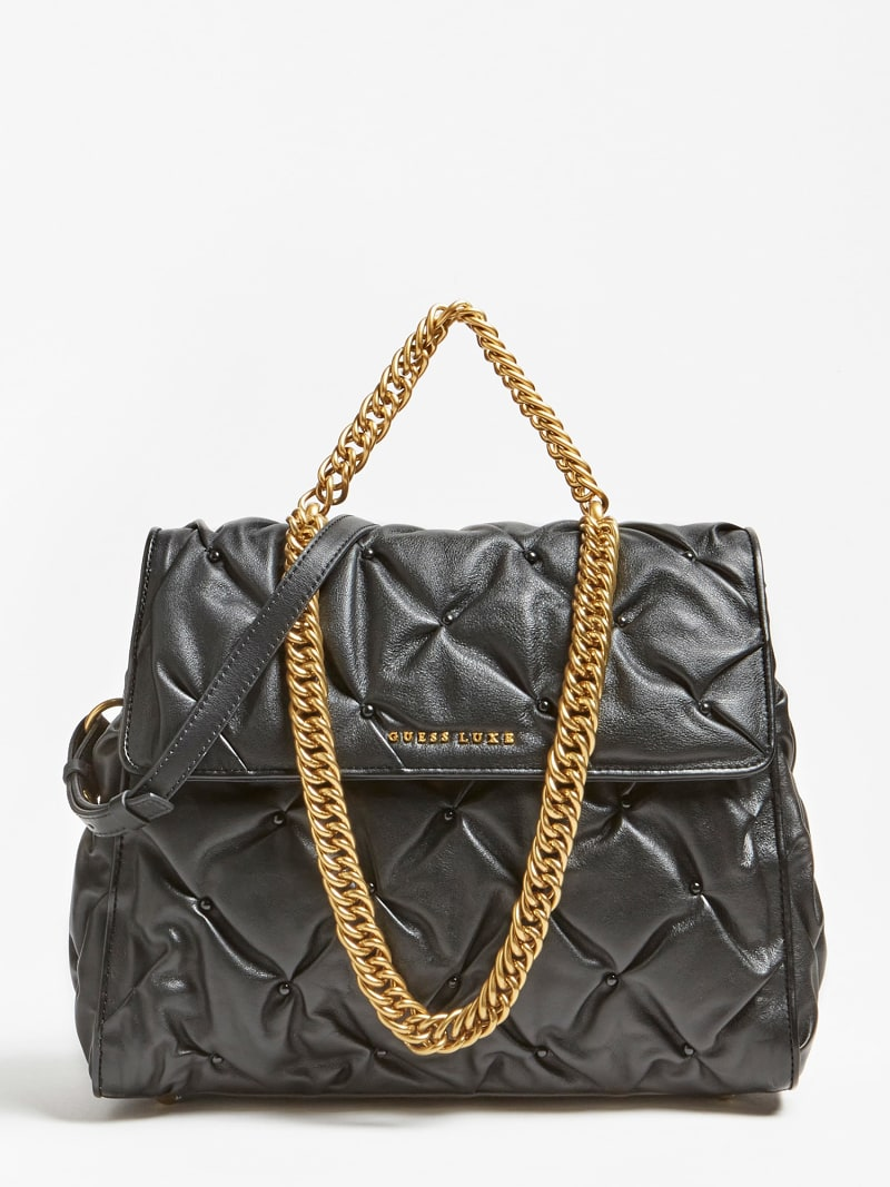 LILA STUDDED LEATHER SHOULDER BAG image number 0