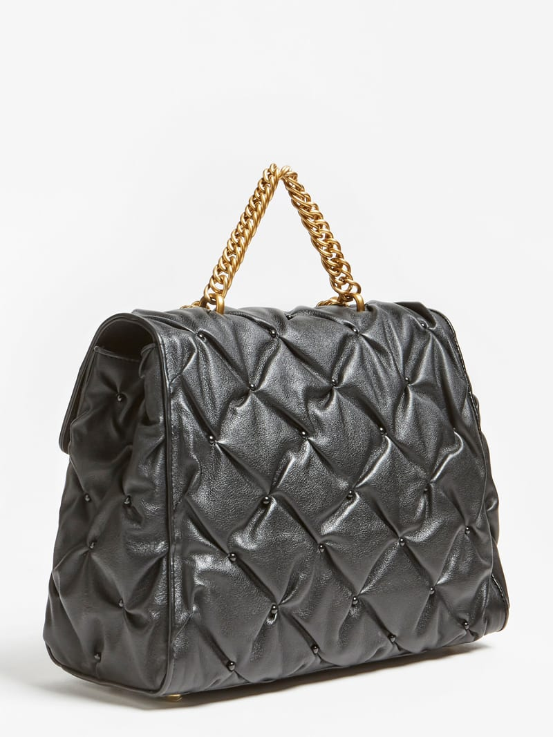 LILA STUDDED LEATHER SHOULDER BAG image number 2