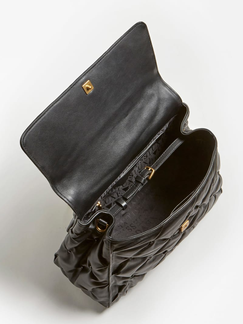 LILA STUDDED LEATHER SHOULDER BAG image number 3