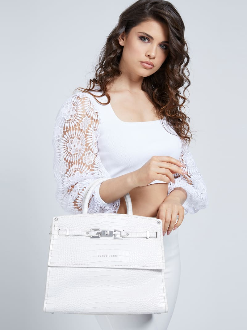 MEGAN LUXE REAL LEATHER HANDBAG image number 1