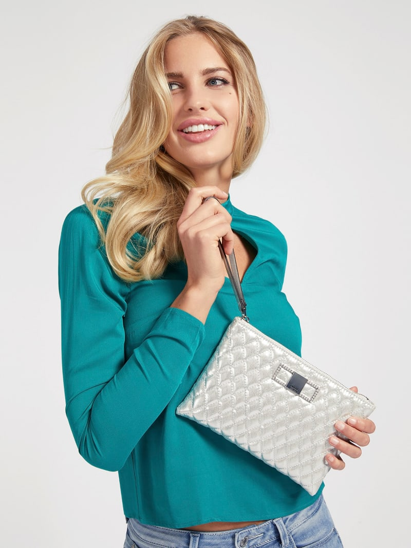 DINNER DATE QUILTED CLUTCH image number 1