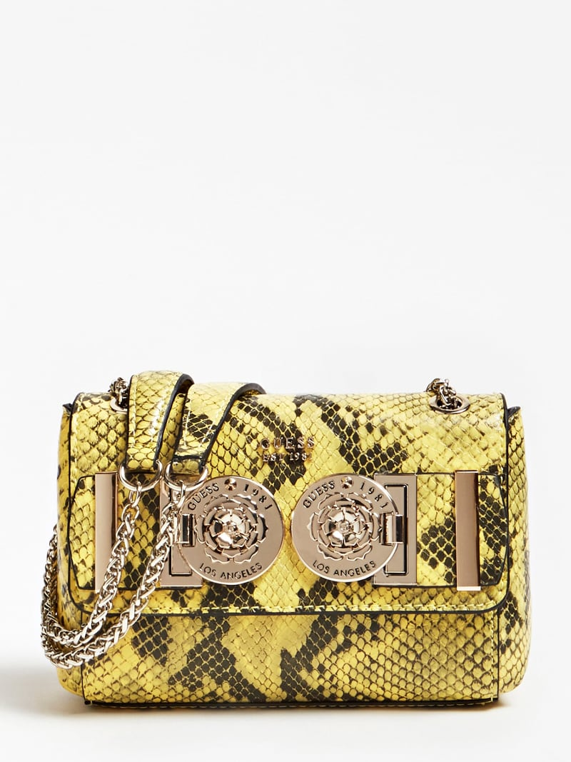 CARINA PYTHON PRINT MINI CROSSBODY BAG WITH LOGO image number 0