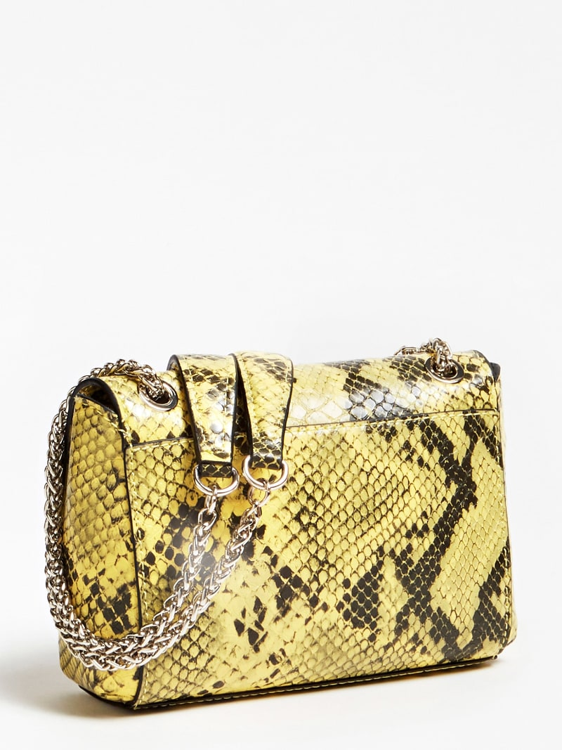 CARINA PYTHON PRINT MINI CROSSBODY BAG WITH LOGO image number 2