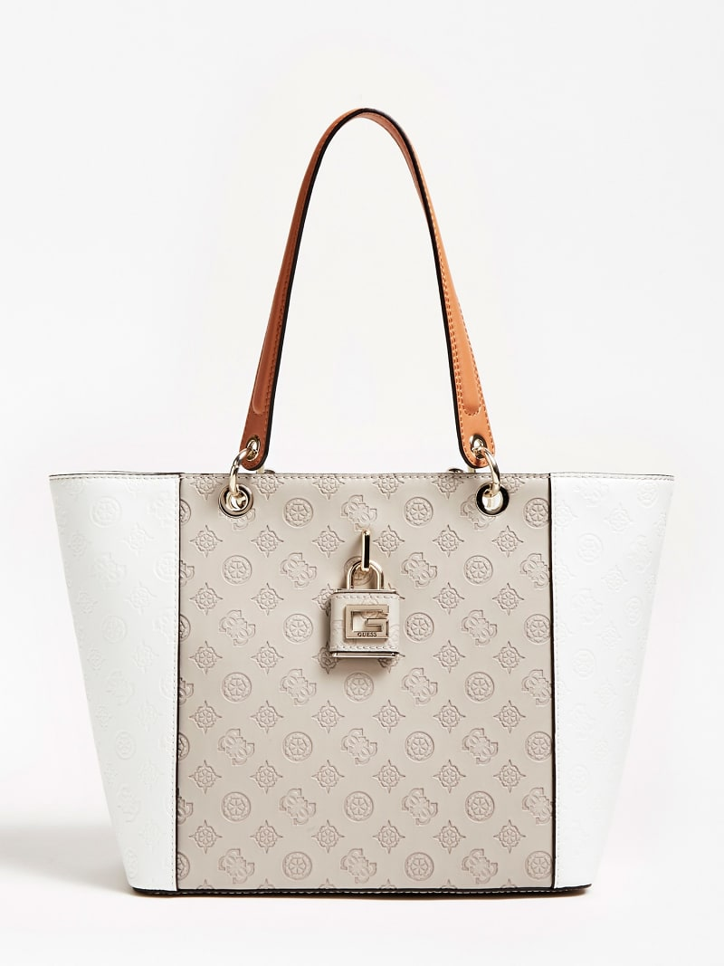 KAMRYN EMBOSSED LOGO SHOPPER image number 0