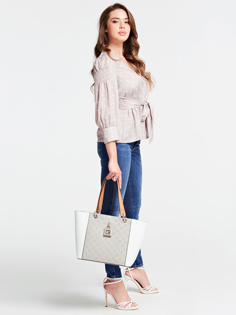 KAMRYN EMBOSSED LOGO SHOPPER image number 1