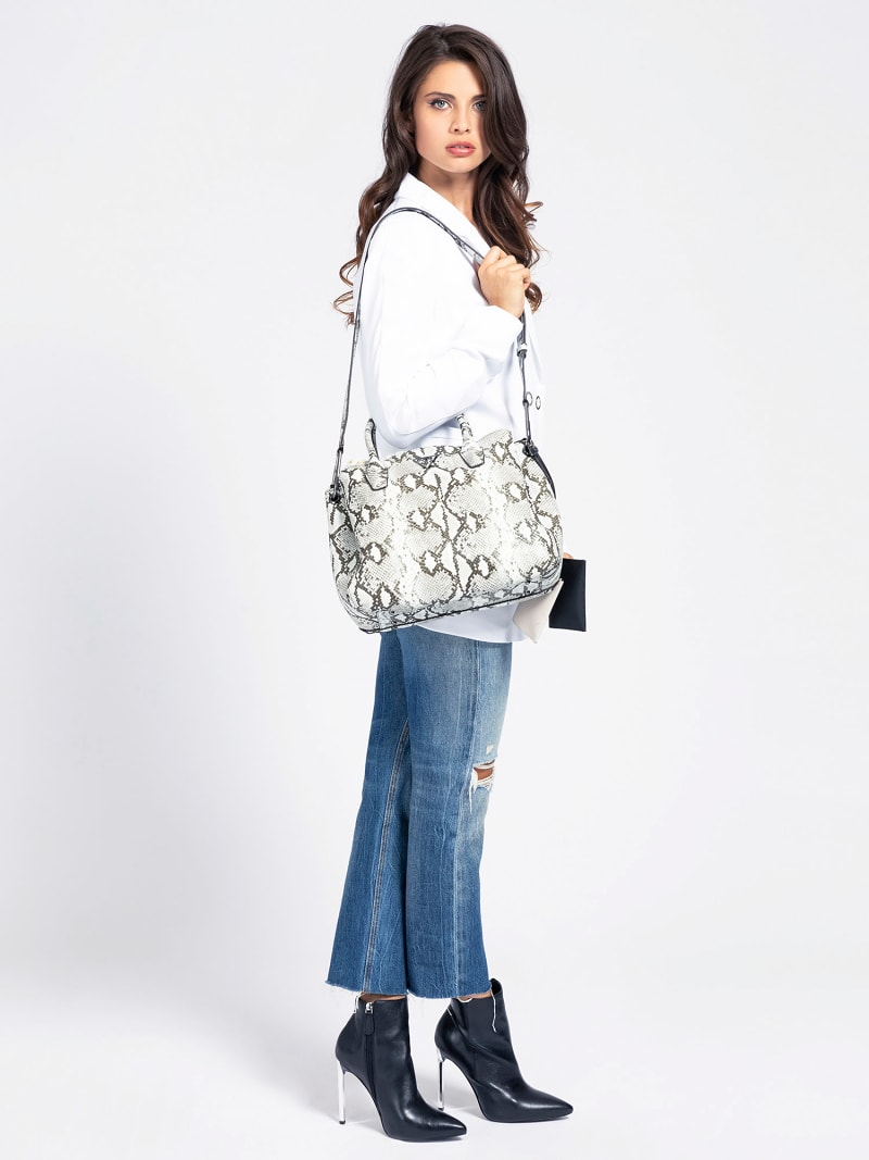 KIRBY PYTHON PRINT SHOULDER BAG image number 1
