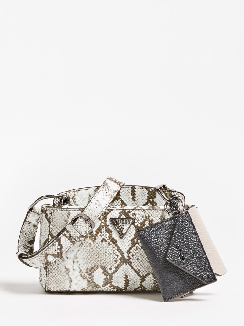 KIRBY PYTHON PRINT MINI CROSSBODY image number 0