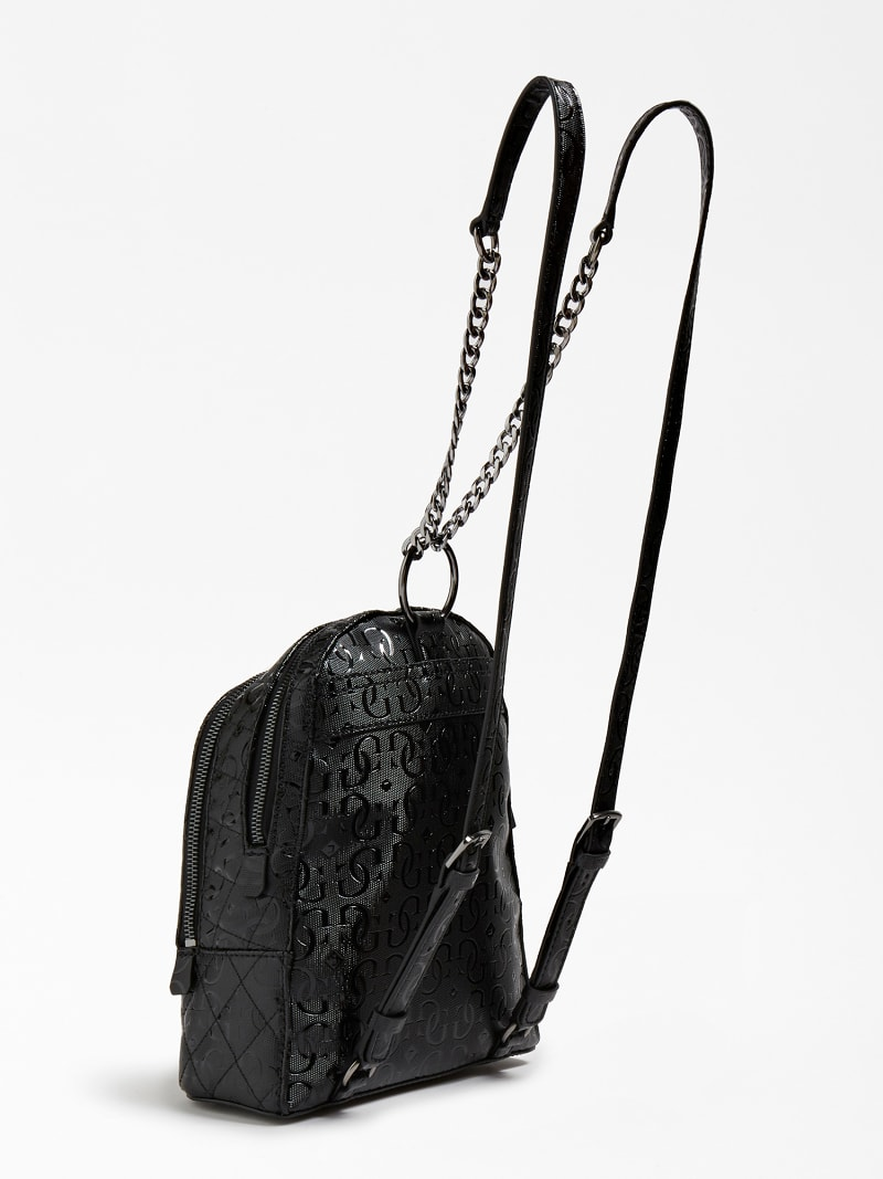 LOLA GLOSSY-LOOK LOGO BACKPACK image number 2