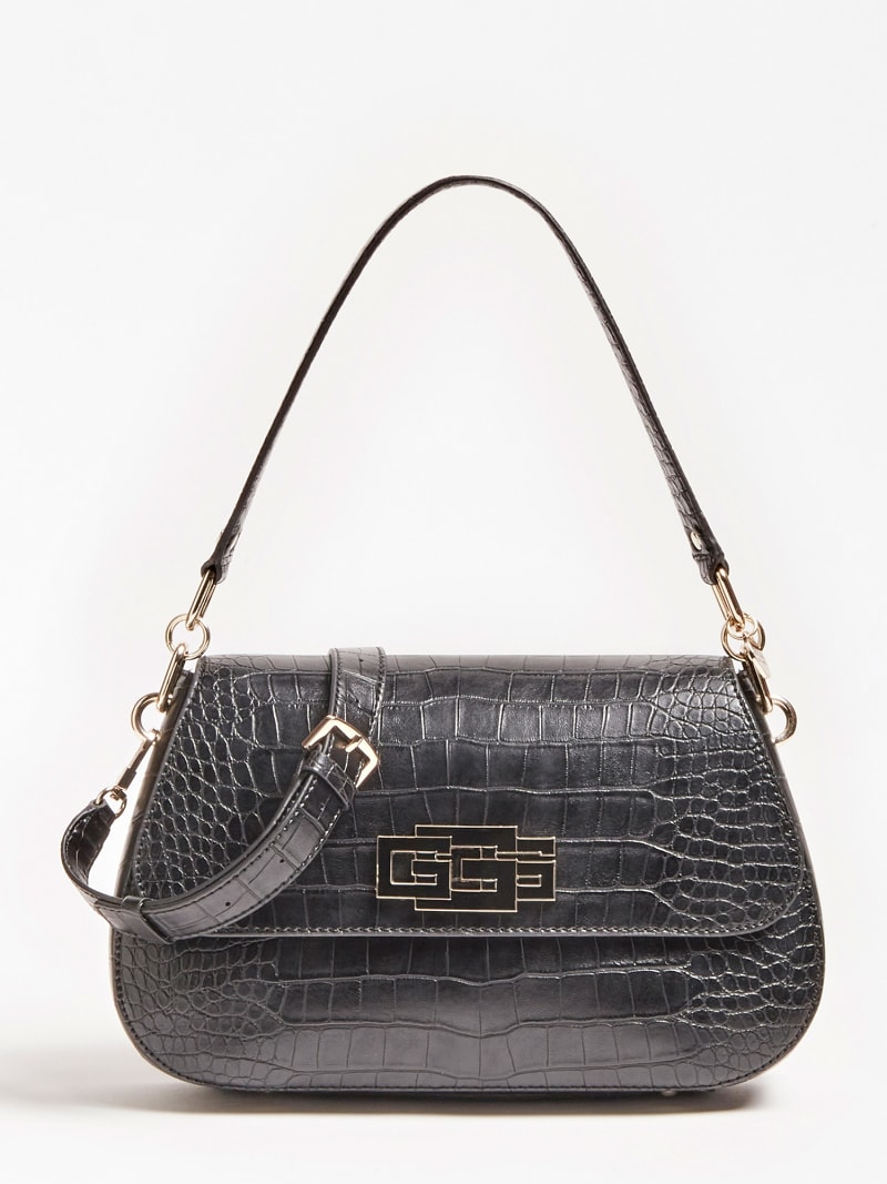TRIPLE G CROC PRINT SHOULDER BAG image number 0
