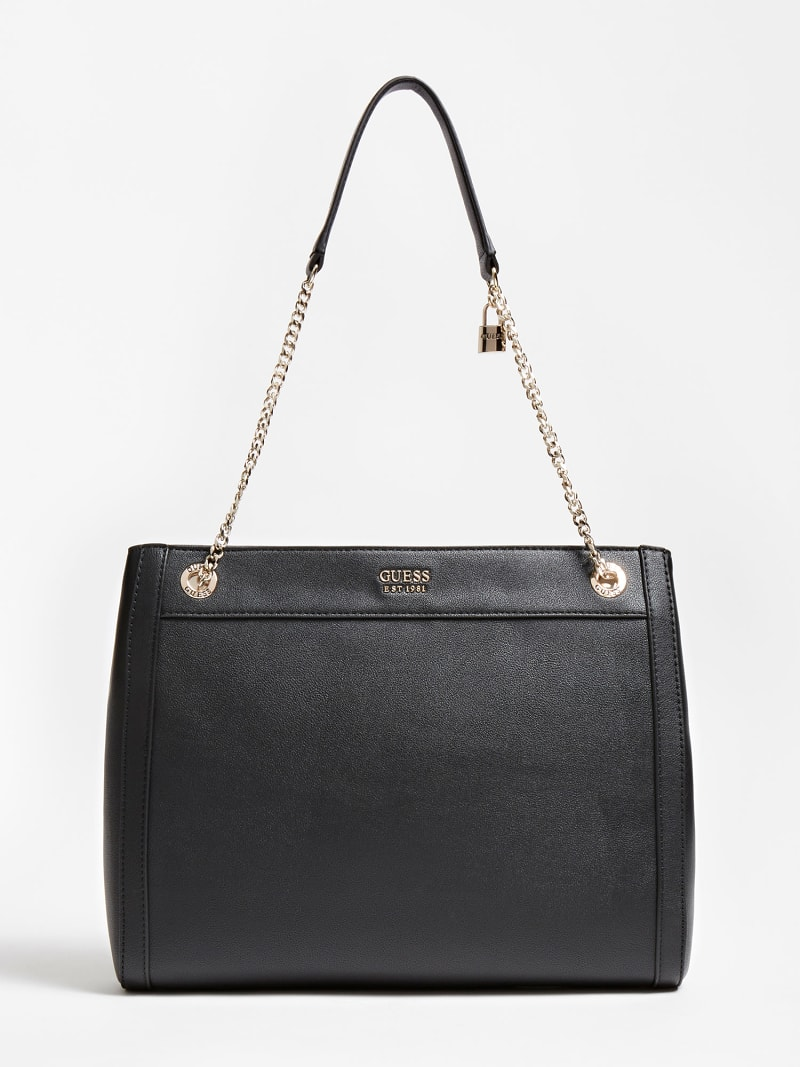 KATEY TWO-TONE STRIP HANDBAG image number 0