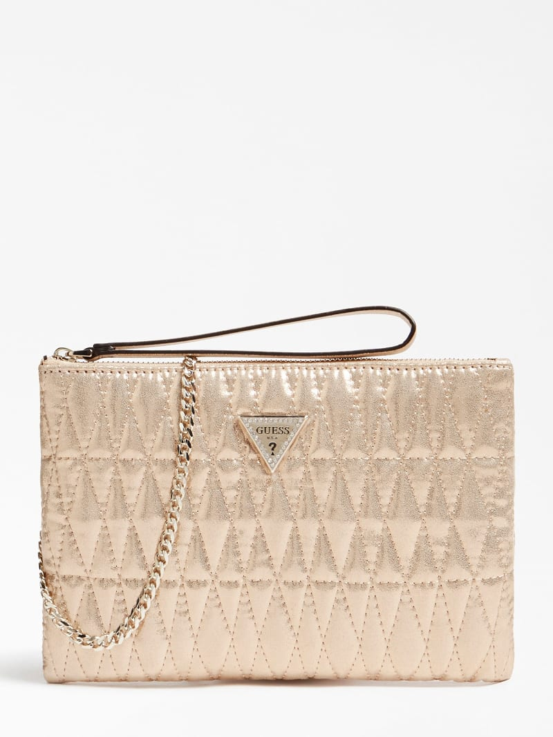 PIXI LAMINATED QUILTED CLUTCH image number 0