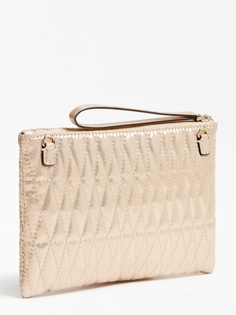 PIXI LAMINATED QUILTED CLUTCH image number 2