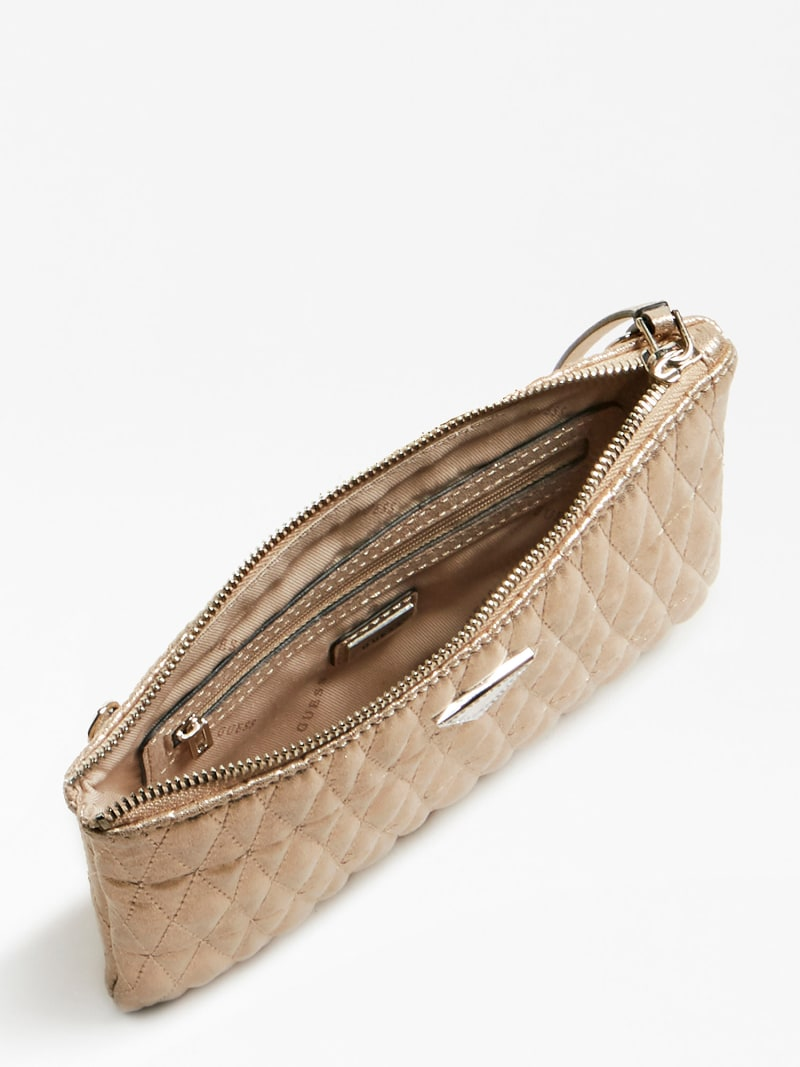 PIXI LAMINATED QUILTED CLUTCH image number 3