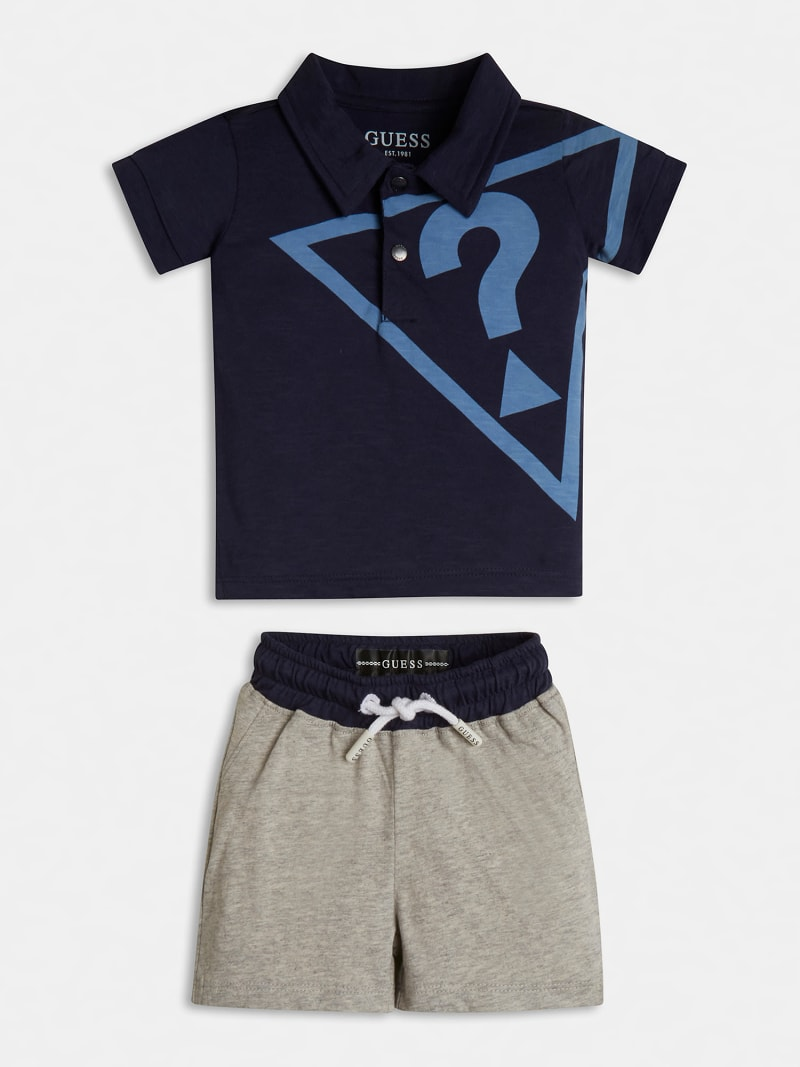 LOGOED POLO AND SHORT SET image number 0
