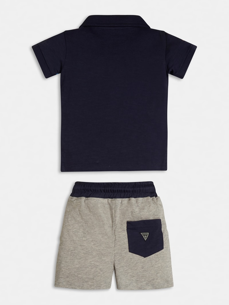 LOGOED POLO AND SHORT SET image number 1