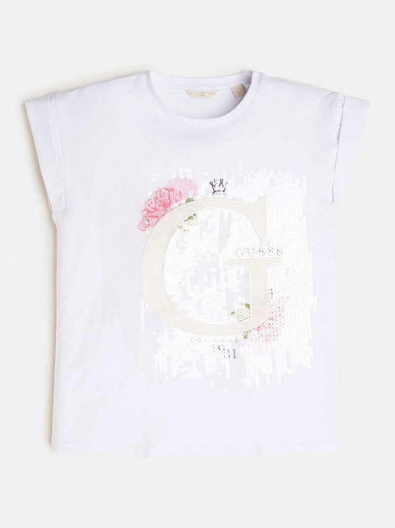 SEQUINS LOGO T-SHIRT image number 0